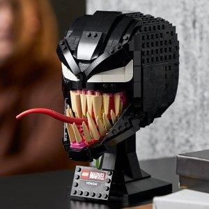折后€53.89 超帅反派新品上市:LEGO 76187 漫威蜘蛛侠系列 毒液头雕 共565颗粒