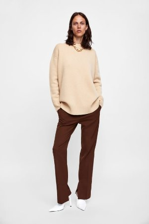 PANTS WITH SIDE VENTS - View all-PANTS-WOMAN   ZARA United States