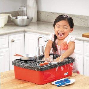 $24.96(原价$39.17)Little Tikes 便携式玩具洗碗槽,让宝宝在玩乐中学做家务