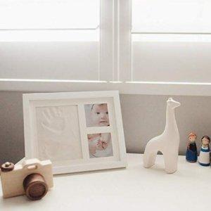 $19.95(原价$45.97)Bubzi Co 宝宝手模脚模纪念相框,美好回忆伴一生