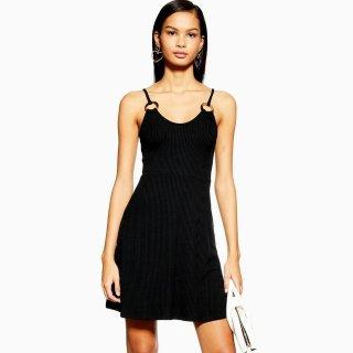 $1+包邮 抢购从速Topshop 黑色极简连衣裙热卖 6码