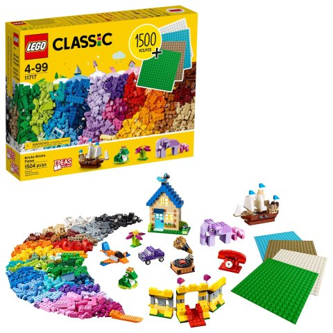 Classic Bricks Bricks Plates 11717 Building Toy; Great Gift for Kids; Imaginative, Creative, Educational Play (1504 Pieces)