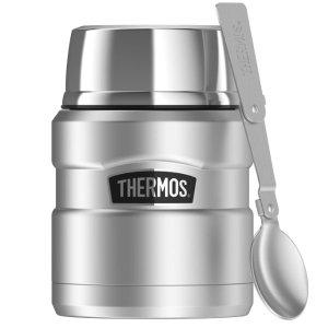 现价$21.88(原价$31.89)史低价:Thermos 膳魔师 银色焖烧罐16盎司 自带折叠小勺