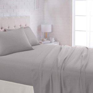 $12.59收4件套AmazonBasics 超细纤维床单套装