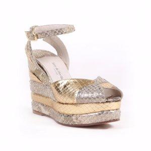Marianne Gold Python - Terry de Havilland | Designer Luxury Shoes & Bags