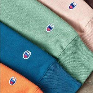 低至5折+额外6折+包邮Champion官网 特价区潮流卫衣、冲锋衣、裤装折上折促销