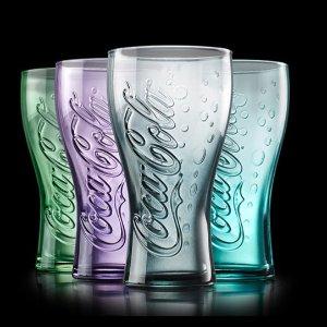 仅限沃尔玛店内餐厅McDonalds 麦当劳  买套餐送Coca-Cola合作款限量玻璃杯