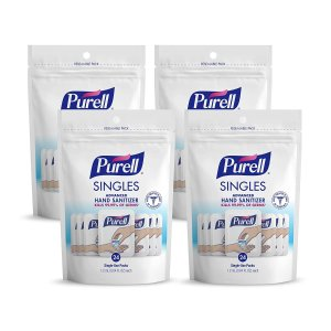 $15.2PURELL Singles Advanced Hand Sanitizer Gel, Fragrance-Free, 24count
