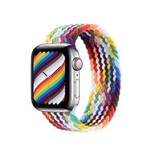 Apple40mm/44mm 各9种尺寸可选彩虹版 编织单圈表带