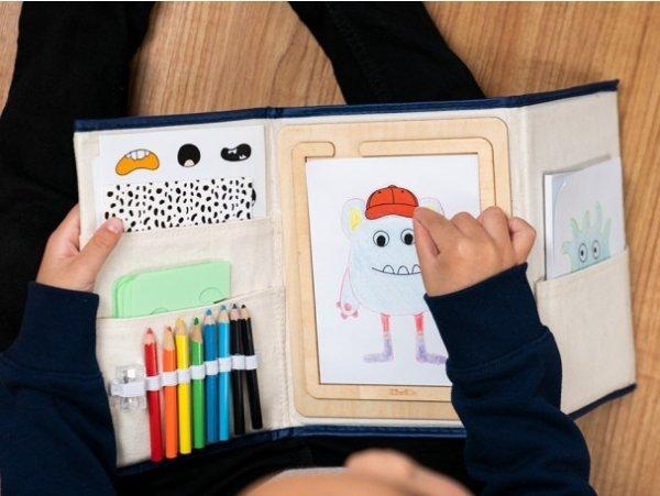 自制小怪物图案画具套装,适合年龄 5+