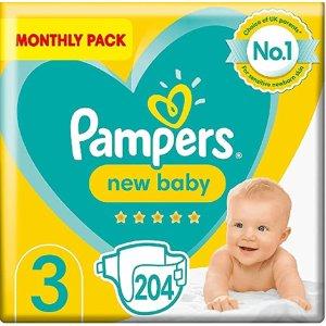 Pampers3 码全新婴儿尿布,204 片 (6-10 kg / 13-22 lbs)