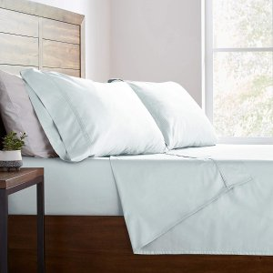 $8.3Stone & Beam HygroCotton Sateen Pillowcase Set, Standard, Sea Spray