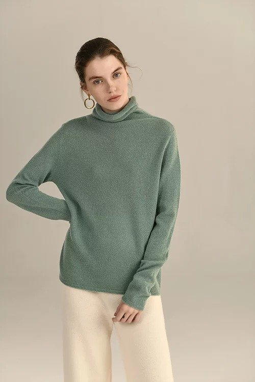 Green Leonora 羊毛毛衣