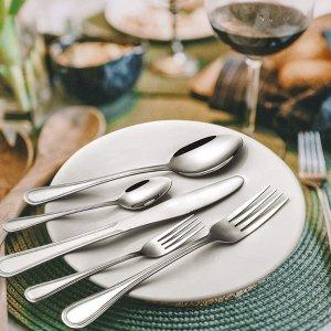 $19.99Silverware Set, Elegant Life 40-Piece Stainless Steel Silverware Flatware Cutlery Set Service for 8