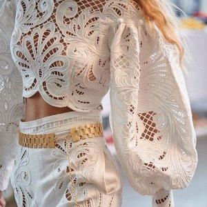 3折起 €262收蕾丝上衣Zimmermann 澳洲仙女风美衣热卖 收刺绣上衣、碎花连衣裙