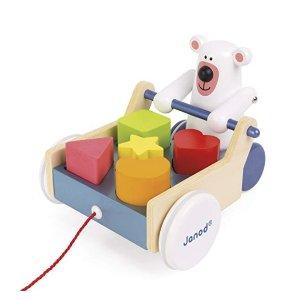 低至5折Janod 高颜值法国早教玩具,收封面款形状玩具