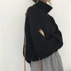 Mock-Turtleneck Cropped 毛衣