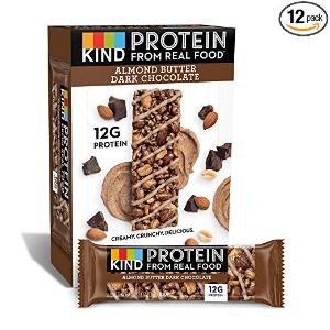 $18.60 相当于$1.55每条闪购:KIND 坚果能量棒 杏仁黑巧克, 1.76oz, 12条