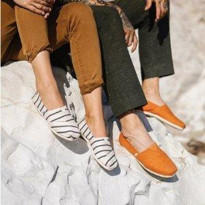 低至5.5折,收性感流苏绑带鞋Toms 官网 精选舒适帆布鞋特卖