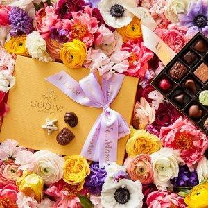 低至4.3折 巧克力$3.99起母亲节礼物:Godiva  红色缎带礼盒8颗装$9收 松露巧克力6颗$7.5