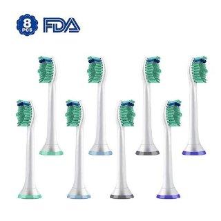 $9.45 平均1个仅$1.18 新品上市Philips Sonicare E/HX 系列 标准型牙刷更换头 (8入)