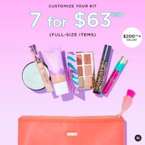 $63 (价值超过$200)tarte cosmetics 自选7件正装美妆护肤套装开售
