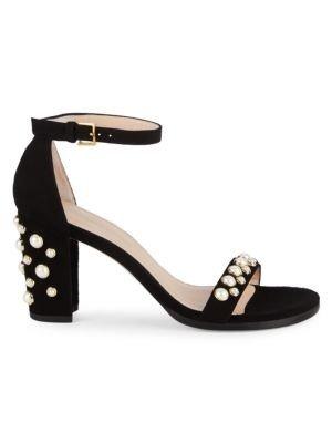 Bing 珍珠一字带凉鞋