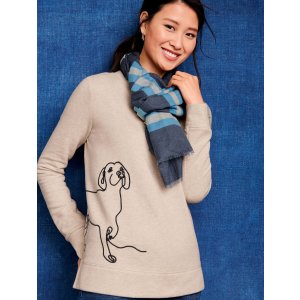 TalbotsBOGO 50% OffCrewneck Sweatshirt - Embroidered Dog