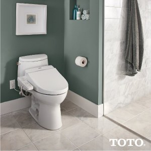 $276.95TOTO SW2034#01 C100 WASHLET Electronic Bidet Toilet Seat, Elongated, Cotton White