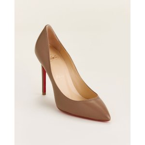 Christian LouboutinCinnamon Pigalle Pointed Toe Leather Pumps