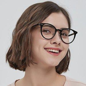 Round Black Eyeglasses Round Black Eyeglasses