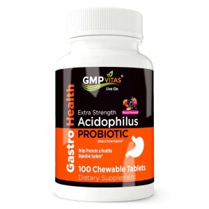 15% OffGMP Vitas Extra Strength Probiotic Acidophilus 100 Chewable Tablets