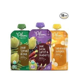 8折+额外9.5折+包邮Plum Organics 有机婴儿辅食热卖,健康第一位