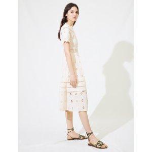 Maje白色镂空连衣裙