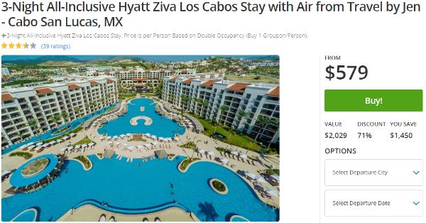 3-Night All-Inclusive Hyatt Ziva Los Cabos $579 - Dealmoon