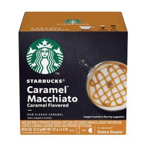 Starbucks Coffee by Nescafe Dolce Gusto, Starbucks Caramel Macchiato, Coffee Pods, 12 capsules, Pack of 3