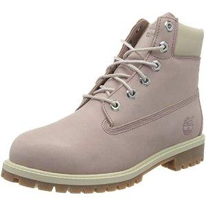 Timberland粉色短靴 大童款
