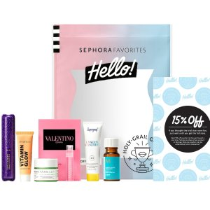 $10 (价值$41) 含8.5折劵Sephora Hello! Holy 美妆小盒子上市 收Supergoop防晒
