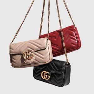 封面款$825 腰带$335Gucci 经典supermini GG包、Sylvie包定价优势
