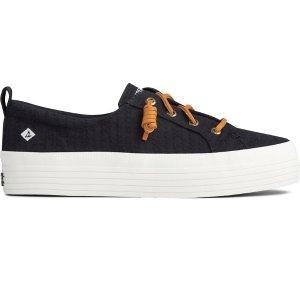 SperryCrest Vibe Smocked Hemp Platform Sneaker
