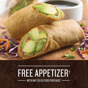Free AppetizerBJ's Restaurant Purchase of Any Food Item