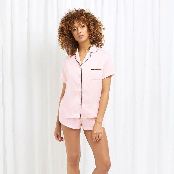 粉色短袖睡衣套装