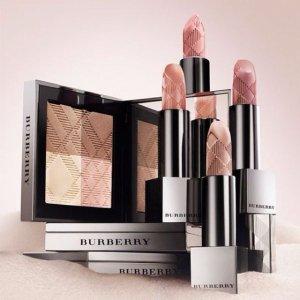 9折 满$150送4件套Burberry 美妆热卖送好礼 收底妆套装、丝绒唇釉
