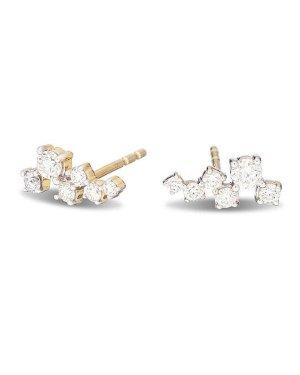Lyst - Adina Reyter Scattered Diamond Earring in Metallic
