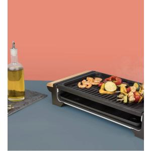 折后仅售47.99欧免邮H.Koenig RP320  韩式日式移动烧烤炉 烤炉架+大理石烧烤