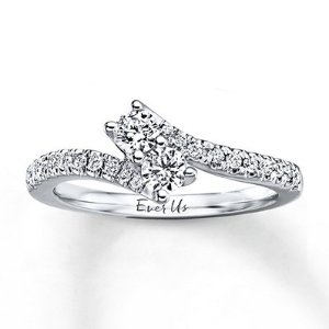Ever Us Two-Stone Ring 1/2 ct tw Diamonds 14K White Gold