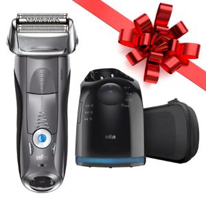 返现后仅$89.94 圣诞送礼好选择博朗 7系790cc 男士电动剃须刀 带清洁充电站