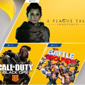 FreePlayStation Plus games for July: Call of Duty: Black Ops 4, WWE 2K Battlegrounds, A Plague Tale: Innocence