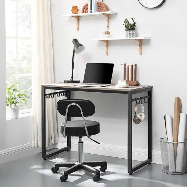 VASAGLE 木纹电脑办公桌 39.4英寸