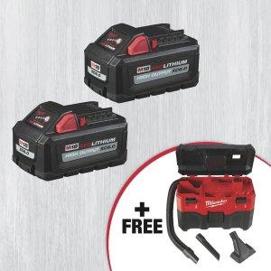 Milwaukee  电池套装,送价值$119真空吸尘器
